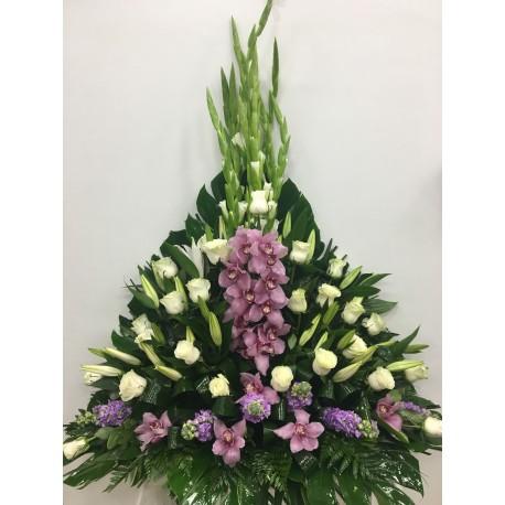 Centros mortuorio orquideas y rosas